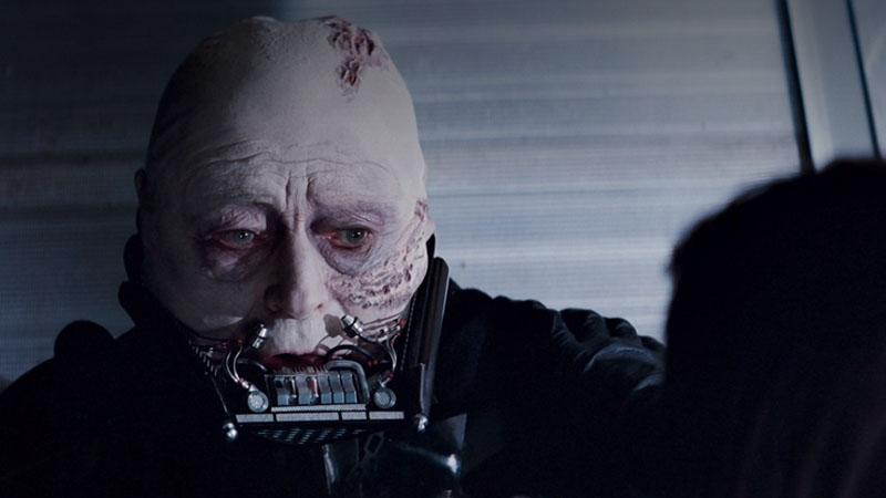 Darth Vader helmet removed